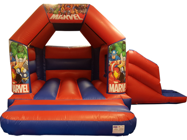 Avengers Super Hero Bouncy Castle Slide Hire