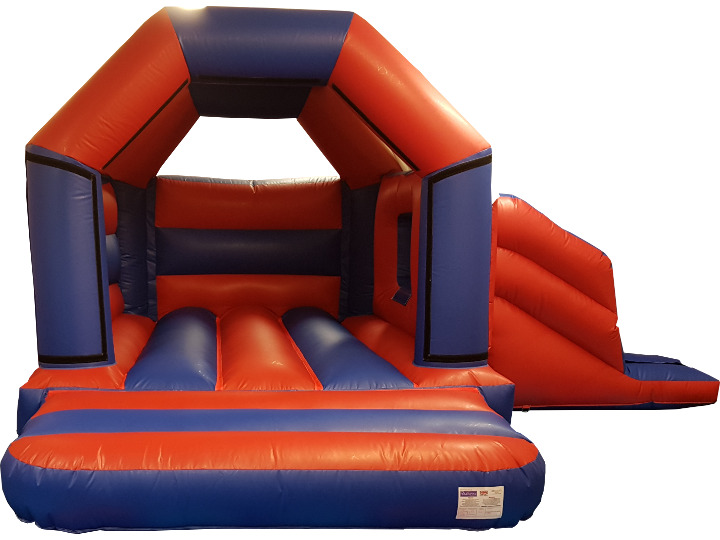 Red & Blue Bouncy Castle Slide Hire Farnborough