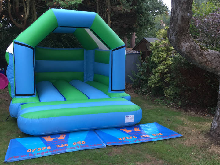 Green & Blue Bouncy Castle Hire