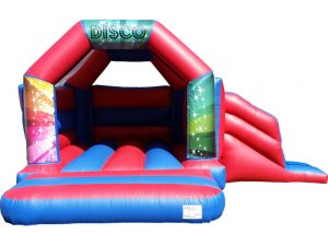 Disco Bouncy Castle Slide Hire