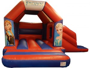 Frozen Princess Bouncy Castle Slide Hire Farnborough