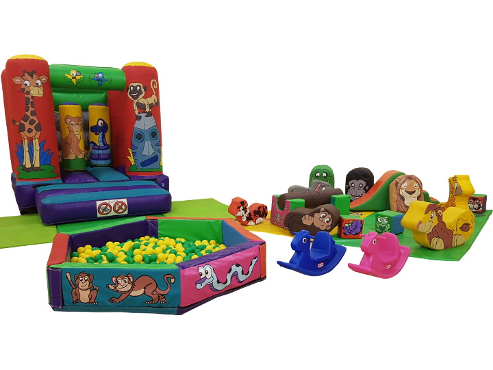 Jungle Soft Play & Toddler Bouncy Castle Packages