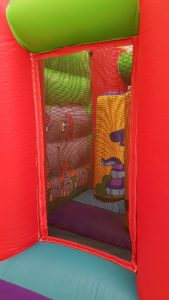 Jungle Toddler Bouncy Castle Inside View
