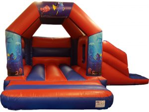 Underwater Finding Nemo Bouncy Castle Slide Hire