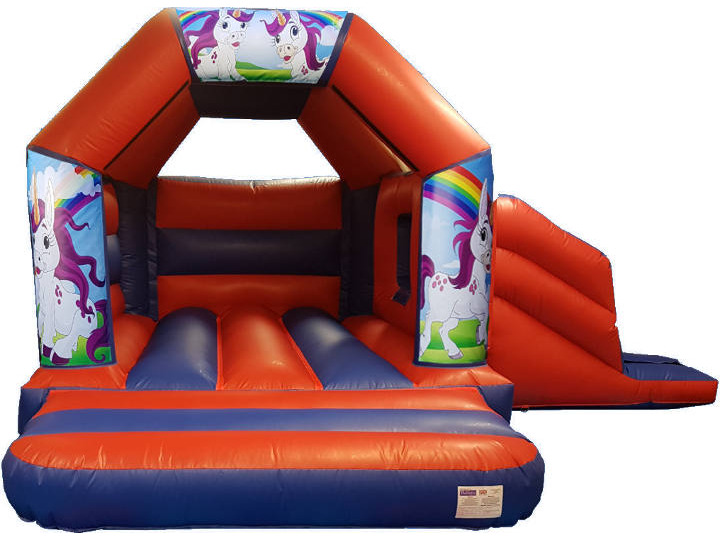 Unicorn Bouncy Castle Slide Hire
